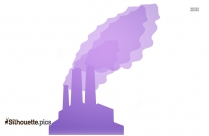 Factory Building Laborer Smoke Silhouette