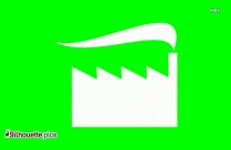 Factory Icon Clipart Silhouette
