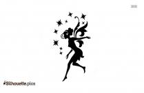 Cute Fairy Silhouette Art