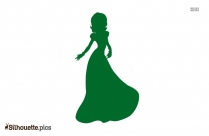 Cute Fairy With Stick Silhouette Vector