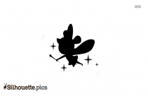 Cartoon Butterfly Silhouette Image