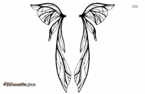 Ice Fairy Wings Drawings Symbol Silhouette