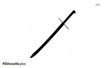 Falchion Sword Silhouette Image