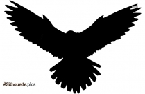 Flying Falcon Clipart Silhouette