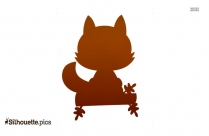 Cute Fall Fox Clipart Silhouette