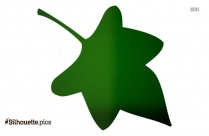 Hawthorn Herbal Leaf Silhouette Illustration