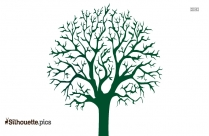 Cartoon Apple Tree Silhouette Image