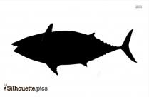 King Fish Silhouette Image