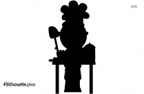 Family Cooking Silhouette Clip Art