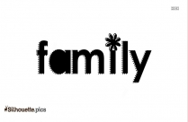 Family Word Silhouette Clipart