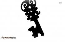 Fancy Key Clipart Silhouette