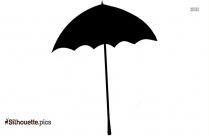 Person With Umbrella Silhouette Art