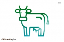 Black And White Cow Clipart Silhouette