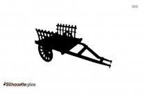 Farmer Cart Silhouette