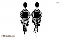 Bug Earrings Silhouette Image, Vector Art
