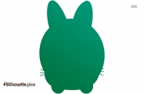 Cute Bunny Silhouette Image And Clipart