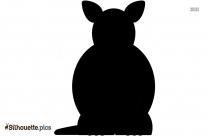 Fat Cartoon Kangaroo Silhouette Clipart