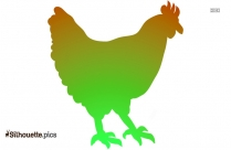 Fat Chicken Silhouette Image And Vector