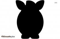 Fat Zebra Silhouette Clipart