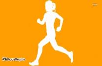 Running Woman Silhouette Illustration