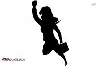 Female Boss Work Cartoon Silhouette