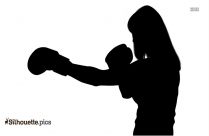 Boxing Gloves Silhouette Red