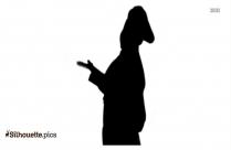 Female Chef Silhouette Illustration