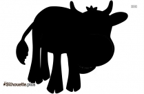 Cartoon Female Cow Silhouette Free Vector Art
