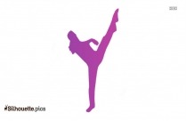Picture Of A Girl Dancing Silhouette