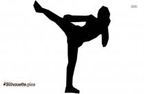 Karate Brick Braking Clipart Silhouette Picture