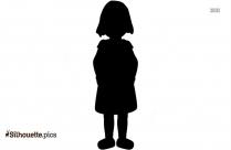 Female Standing Symbol Silhouette