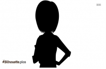 Cartoon Woman Standing Clipart Silhouette