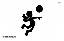 Female Volleyball Silhouette