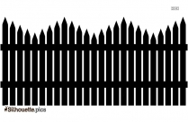 Fence Silhouette Free Vector Art