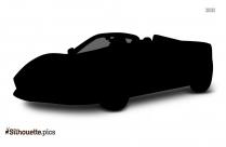 Cartoon Car Engine Silhouette