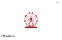 Ferris Wheel Silhouette Line Drawing