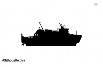 Ferry Boat Silhouette Background
