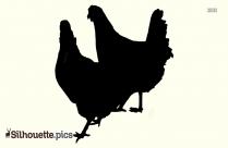 Fighting Chicken Silhouette