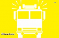 Fire Engine Front View Silhouette Icon