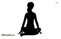 Black And White Dragonfly Yoga Pose Silhouette