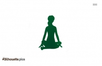 Intense Side Stretch Yoga Pose Silhouette