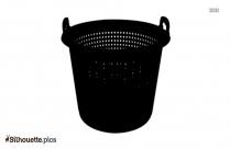 Fish Basket Silhouette Free Vector Art