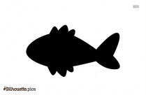 Fish Drawing Silhouette Background Image