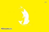 Sea Horse Cartoon Silhouette