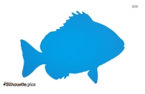 Common Lion Fish Silhouette Image