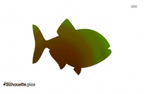 Asian Fish Silhouette Illustration