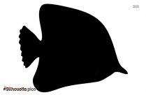 Angel Fish Silhouette Free Vector Art