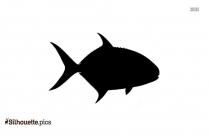Pompano Fish Silhouette