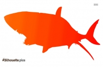 Black Tropical Fish Silhouette Image