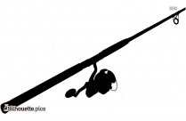 Fishing Rod Silhouette Image